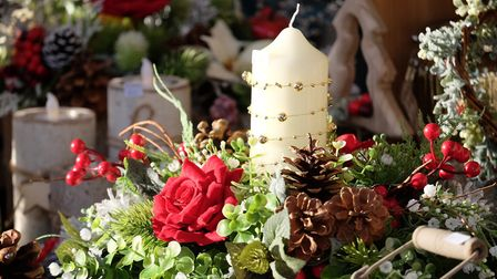 Christmas decorations on offer at the annual fair. Picture: RICHARD MARSHAM