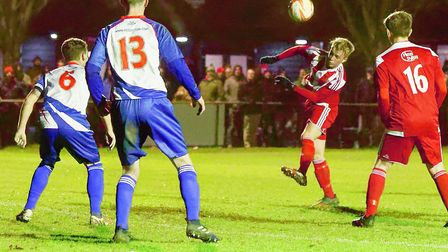 Teenagers Rory Porter and Lewis Smy impressed for Felixstowe in their win over Clacton. Picture: STA