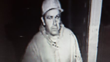 CCTV image issued by Suffolk police after camera theft in Stowmarket. Picture: Contributed.