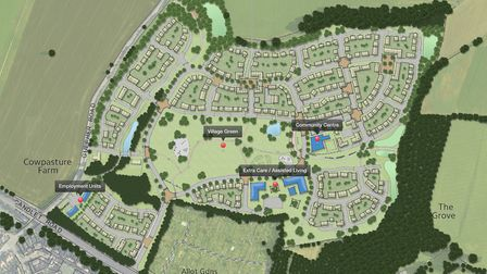 Christchurch Land and Estates' proposed development of 560 homes, community centre, extra care/assis