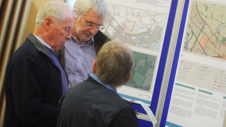 Exhibition showing plans for 560 homes, shops, care and community facilities to be built on countrys