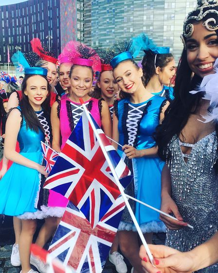 Ballistik cheerleaders and dancers filmed for Britain's Got Talent. Picture: CATHY GRAHAM