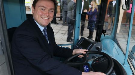 Colchester MP Will Quince at the town's Park and Ride. Picture: EAST NEWS
