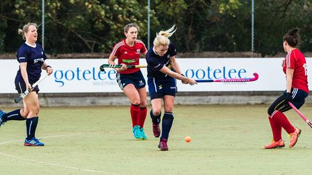 Chloe Williams bagged a brace for Ipsich at Sevenoaks. Picture: STEVE WALLER