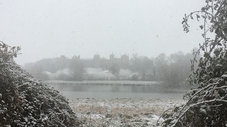Framlingham Castle, pictured in the snow. Picture: ANDREW HIRST