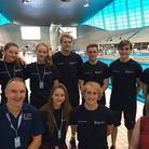 The County Upper School swimmers and their coaches at the London Aquatic Centre. Picture: BRENDON PY