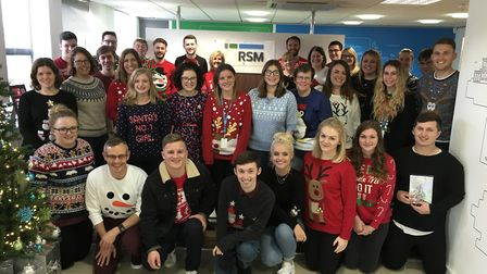 The RSM CSR team in their Christmas jumpers. Picture: Jade Perry, FIND Ipswich
