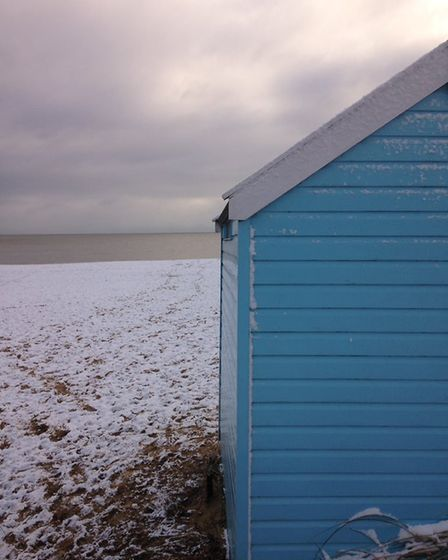 Snowy scenes in Southwold. Picture: JEREMY REEVE