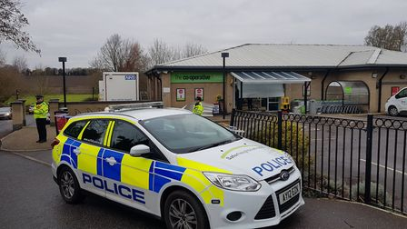 The scene at Co-op in Rickinghall. Picture: Marc Betts