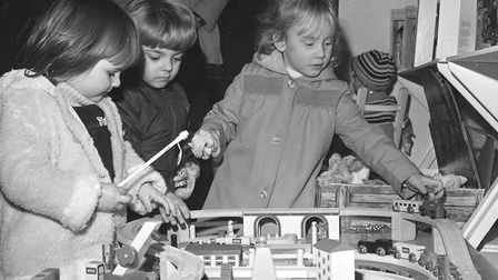 Children playing with toys at the Hadleigh Expo in 1981. Picture: ARCHANT