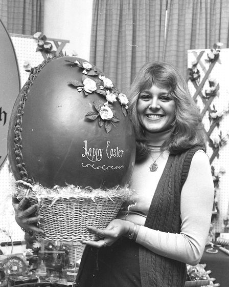 Big easter egg at the Hadleigh Expo in 1981. Picture: ARCHANT