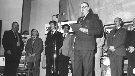 Speeches being made at the Hadleigh Expo in 1981. Picture: ARCHANT