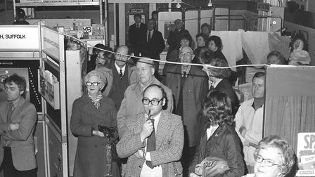 Can you spot someone you know in this picture captured at the Hadleigh Expo in 1981 Picture: ARCHANT