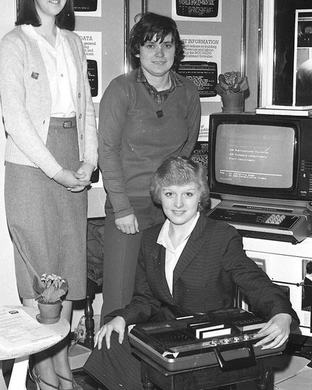 Computers at the Hadleigh Expo in 1981. Picture: ARCHANT