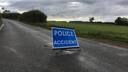 File image of a police accident sign. Picture: ANDREW HIRST