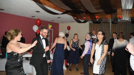 Dancing the night away at last year's fundraising Valentines Ball, held at the Southgate Community C