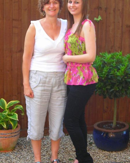 Jackie McCord with her 16-year-old daughter Cassie, who was killed in a road accident in February 20