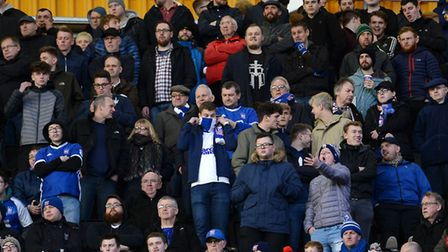 Town fans high up in the stand at Molineux Picture Pagepix