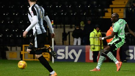 Sanmi Odelusi nets a late equaliser at Notts County, although the U's went on to lose 2-1. He will b