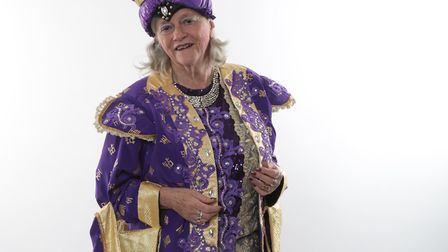 Ann Widdecombe as the Empress of China in Aladdin, at Lowestoft's Marina Theatre. Picture: PAUL HOLM