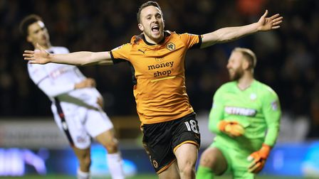Portuguese forward Diogo Jota, on loan from Atletico Madrid, has been Wolves' star man. Photo: PA