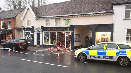 The Lavenham shop is the latest Co-op to be targeted by ram raiders. Picture: GREGG BROWN