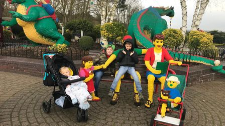 Kodie and family at Legoland Windsor on Saturday. Picture: CONTRIBUTED