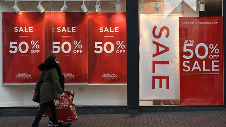 Early shoppers make the most of last year's Boxing Day sales. Picture: MARK BULLIMORE