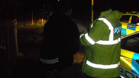 Suffolk police officers were out in Lowestoft a week on from an alleged rape. Picture: SUFFOLK CONST