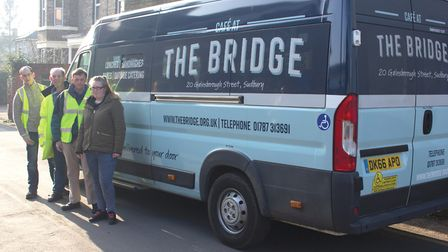 Kyle Ellis, Boyd Robinson, Robert Elmer and Necolle Girling of the Bridge Project with the new-look