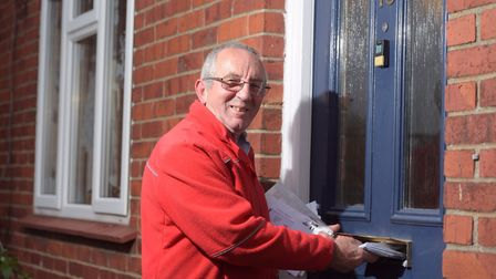 Fred Sparrow is retiring after 29 years as a postman in Framlingham. Picture: SARAH LUCY BROWN