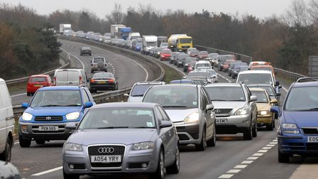 There are reports of very slow moving traffic on the A12 at Witham following reports a car had hit t