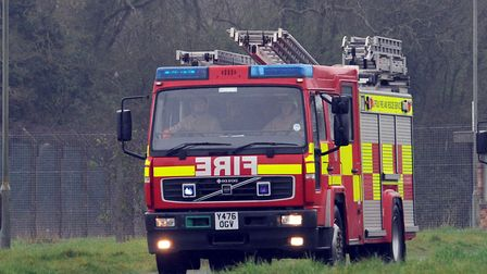 Two fire crews were called to the incident. Picture: PHIL MORLEY