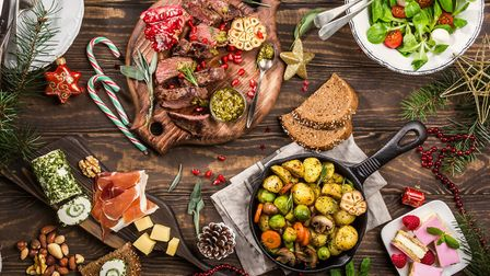 A table of Christmas food. Picture: Getty Images/iStockphoto