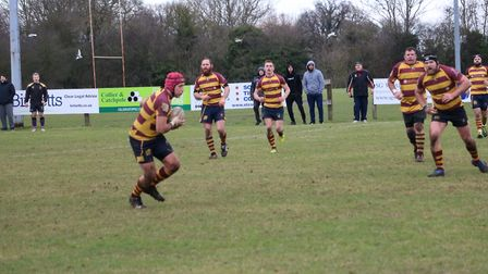 Ipswich YM on the attack during their win against Ipswich Magpies. Picture: DEBBIE TAYLOR