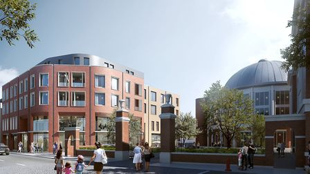 An impression of plans for the redevelopment of land in Braintree. Picture: CONTRIBUTED