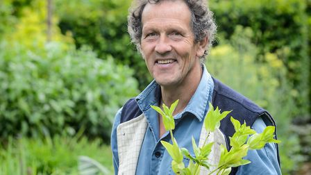 Undated Handout Photo of Monty Don with seedlings. See PA Feature GARDENING Wellbeing. Picture credi