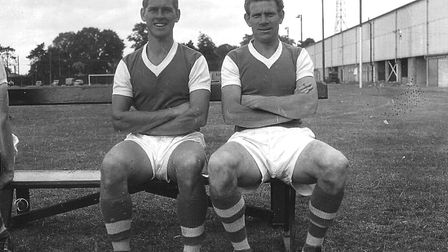 'The Terrible Twins', Ray Crawford and Ted Phillips (right). In the Championship year they scored 61