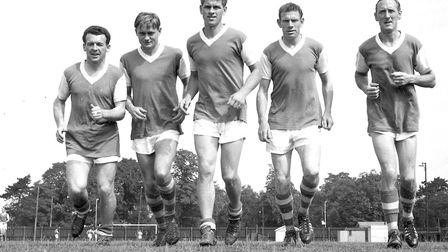 The Fab Five (from left): Roy Stephenson, Doug Moran, Ray Crawford, Ted Phillips and Jimmy Leadbette
