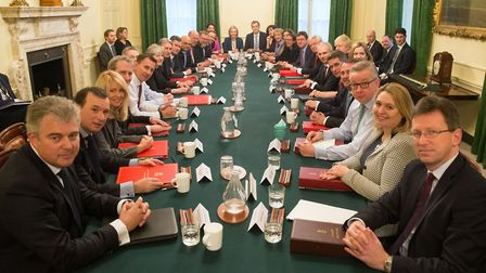 Prime Minister Theresa May leads her first cabinet meeting of the new year at Number 10 amid an ongo