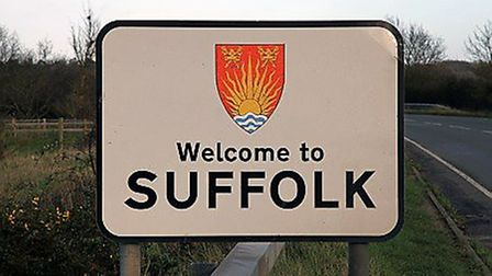 Suffolk County Council leader Colin Noble wants to update the existing 'welcome to Suffolk signs' re