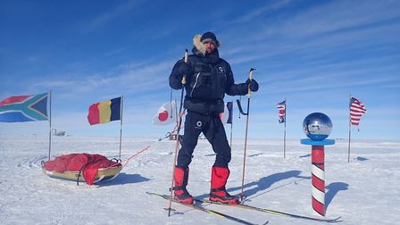 Scott Sears walked 700 miles to the South Pole. Picture: SCOTT SEARS