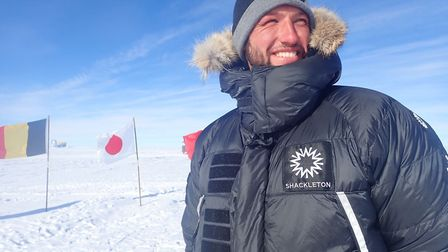 Scott Sears made history with his walk to the South Pole. Picture: SCOTT SEARS