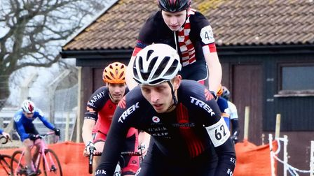 Ipswich rider Paddy Atkinson leads Connor Rumbles off the sand table at Trinity Park. Picture: FERGU