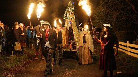 Rendham Mummers during their celebration of the winter solstice. Picture: RENDHAM MUMMERS