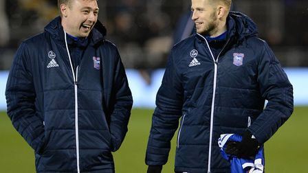 Freddie Sears and Luke Hyam share a joke at Craven Cottage. Picture: PAGEPIX