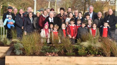 Opening of a new community area at the St Olaves Precinct on the Howard Estate, Bury St Edmunds. Pic