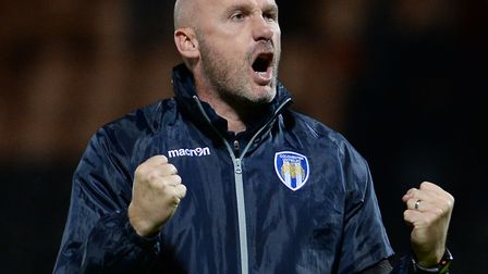 Colchester United boss, John McGreal, looking for more good cheer against Cheltenham this weekend. P