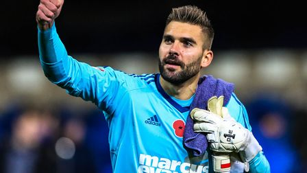 Ipswich Town keeper Bartosz Bialkowski is on a list of Crystal Palace transfer targets. Photo: Steve