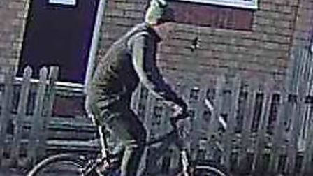 Essex Police want to speak to this cyclist following a burglary in Colchester. Picture: ESSEX POLICE